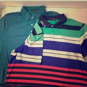 RLX Raulph Lauren Golf polo shirts size XL PAIR